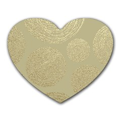Modern, Gold,polka Dots, Metallic,elegant,chic,hand Painted, Beautiful,contemporary,deocrative,decor Heart Mousepads