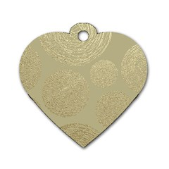 Modern, Gold,polka Dots, Metallic,elegant,chic,hand Painted, Beautiful,contemporary,deocrative,decor Dog Tag Heart (two Sides)
