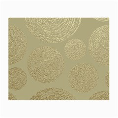 Modern, Gold,polka Dots, Metallic,elegant,chic,hand Painted, Beautiful,contemporary,deocrative,decor Small Glasses Cloth (2 Side)