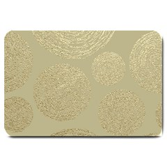 Modern, Gold,polka Dots, Metallic,elegant,chic,hand Painted, Beautiful,contemporary,deocrative,decor Large Doormat
