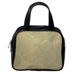 Modern, Gold,polka Dots, Metallic,elegant,chic,hand Painted, Beautiful,contemporary,deocrative,decor Classic Handbags (one Side)