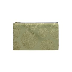 Modern, Gold,polka Dots, Metallic,elegant,chic,hand Painted, Beautiful,contemporary,deocrative,decor Cosmetic Bag (small)