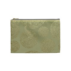 Modern, Gold,polka Dots, Metallic,elegant,chic,hand Painted, Beautiful,contemporary,deocrative,decor Cosmetic Bag (medium)