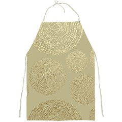 Modern, Gold,polka Dots, Metallic,elegant,chic,hand Painted, Beautiful,contemporary,deocrative,decor Full Print Aprons