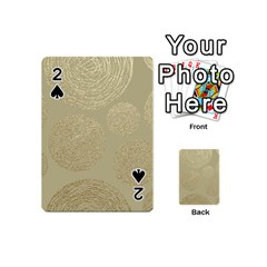 Modern, Gold,polka Dots, Metallic,elegant,chic,hand Painted, Beautiful,contemporary,deocrative,decor Playing Cards 54 (mini)