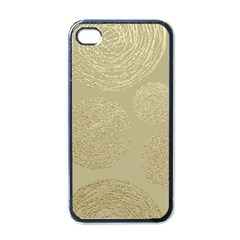 Modern, Gold,polka Dots, Metallic,elegant,chic,hand Painted, Beautiful,contemporary,deocrative,decor Apple Iphone 4 Case (black)