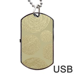 Modern, Gold,polka Dots, Metallic,elegant,chic,hand Painted, Beautiful,contemporary,deocrative,decor Dog Tag Usb Flash (one Side)