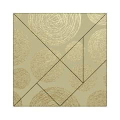 Modern, Gold,polka Dots, Metallic,elegant,chic,hand Painted, Beautiful,contemporary,deocrative,decor Acrylic Tangram Puzzle (6  X 6 )