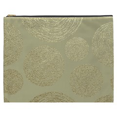 Modern, Gold,polka Dots, Metallic,elegant,chic,hand Painted, Beautiful,contemporary,deocrative,decor Cosmetic Bag (xxxl)