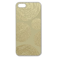 Modern, Gold,polka Dots, Metallic,elegant,chic,hand Painted, Beautiful,contemporary,deocrative,decor Apple Seamless Iphone 5 Case (clear)