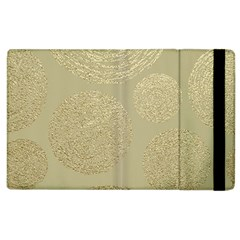 Modern, Gold,polka Dots, Metallic,elegant,chic,hand Painted, Beautiful,contemporary,deocrative,decor Apple Ipad 3/4 Flip Case