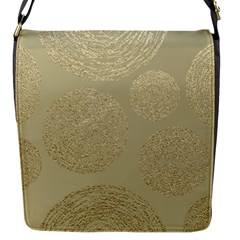 Modern, Gold,polka Dots, Metallic,elegant,chic,hand Painted, Beautiful,contemporary,deocrative,decor Flap Messenger Bag (s)