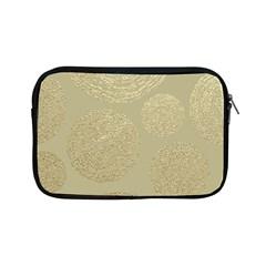 Modern, Gold,polka Dots, Metallic,elegant,chic,hand Painted, Beautiful,contemporary,deocrative,decor Apple Ipad Mini Zipper Cases