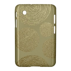 Modern, Gold,polka Dots, Metallic,elegant,chic,hand Painted, Beautiful,contemporary,deocrative,decor Samsung Galaxy Tab 2 (7 ) P3100 Hardshell Case