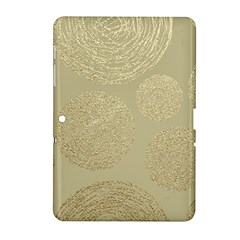 Modern, Gold,polka Dots, Metallic,elegant,chic,hand Painted, Beautiful,contemporary,deocrative,decor Samsung Galaxy Tab 2 (10 1 ) P5100 Hardshell Case