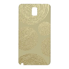 Modern, Gold,polka Dots, Metallic,elegant,chic,hand Painted, Beautiful,contemporary,deocrative,decor Samsung Galaxy Note 3 N9005 Hardshell Back Case
