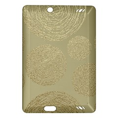 Modern, Gold,polka Dots, Metallic,elegant,chic,hand Painted, Beautiful,contemporary,deocrative,decor Amazon Kindle Fire Hd (2013) Hardshell Case
