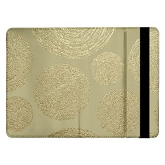 Modern, Gold,polka Dots, Metallic,elegant,chic,hand Painted, Beautiful,contemporary,deocrative,decor Samsung Galaxy Tab Pro 12 2  Flip Case