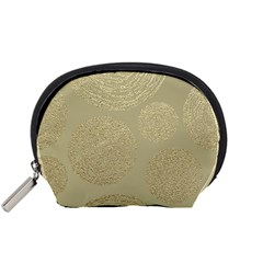 Modern, Gold,polka Dots, Metallic,elegant,chic,hand Painted, Beautiful,contemporary,deocrative,decor Accessory Pouches (small)