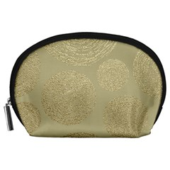 Modern, Gold,polka Dots, Metallic,elegant,chic,hand Painted, Beautiful,contemporary,deocrative,decor Accessory Pouches (large)