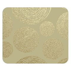 Modern, Gold,polka Dots, Metallic,elegant,chic,hand Painted, Beautiful,contemporary,deocrative,decor Double Sided Flano Blanket (small)