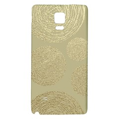 Modern, Gold,polka Dots, Metallic,elegant,chic,hand Painted, Beautiful,contemporary,deocrative,decor Galaxy Note 4 Back Case