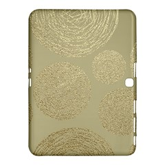 Modern, Gold,polka Dots, Metallic,elegant,chic,hand Painted, Beautiful,contemporary,deocrative,decor Samsung Galaxy Tab 4 (10 1 ) Hardshell Case