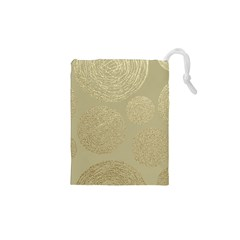 Modern, Gold,polka Dots, Metallic,elegant,chic,hand Painted, Beautiful,contemporary,deocrative,decor Drawstring Pouches (xs)