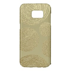 Modern, Gold,polka Dots, Metallic,elegant,chic,hand Painted, Beautiful,contemporary,deocrative,decor Samsung Galaxy S7 Edge Hardshell Case