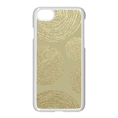 Modern, Gold,polka Dots, Metallic,elegant,chic,hand Painted, Beautiful,contemporary,deocrative,decor Apple Iphone 7 Seamless Case (white)