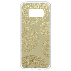 Modern, Gold,polka Dots, Metallic,elegant,chic,hand Painted, Beautiful,contemporary,deocrative,decor Samsung Galaxy S8 White Seamless Case