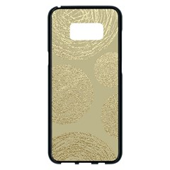 Modern, Gold,polka Dots, Metallic,elegant,chic,hand Painted, Beautiful,contemporary,deocrative,decor Samsung Galaxy S8 Plus Black Seamless Case