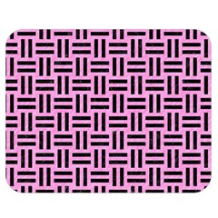 Woven1 Black Marble & Pink Colored Pencil Double Sided Flano Blanket (medium)