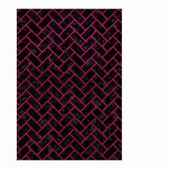 Brick2 Black Marble & Pink Leather (r) Small Garden Flag (two Sides)
