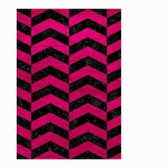 Chevron2 Black Marble & Pink Leather Small Garden Flag (two Sides)