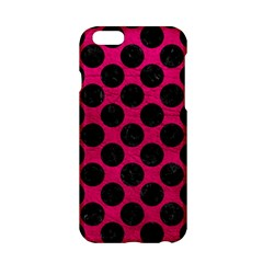 Circles2 Black Marble & Pink Leather Apple Iphone 6/6s Hardshell Case