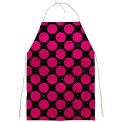 Circles2 Black Marble & Pink Leather (r) Full Print Aprons