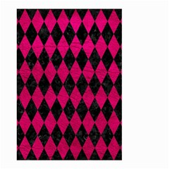 Diamond1 Black Marble & Pink Leather Small Garden Flag (two Sides)