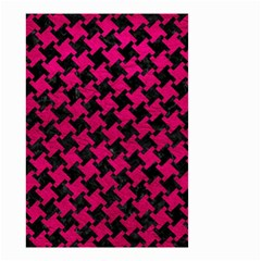 Houndstooth2 Black Marble & Pink Leather Small Garden Flag (two Sides)