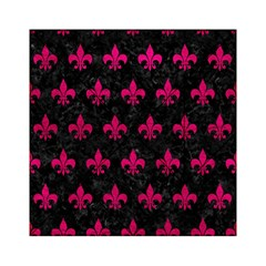 Royal1 Black Marble & Pink Leather Acrylic Tangram Puzzle (6  X 6 )