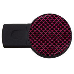 Scales1 Black Marble & Pink Leather (r) Usb Flash Drive Round (2 Gb)