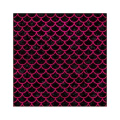 Scales1 Black Marble & Pink Leather (r) Acrylic Tangram Puzzle (6  X 6 )