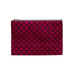 Scales2 Black Marble & Pink Leather Cosmetic Bag (medium)