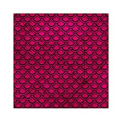 Scales2 Black Marble & Pink Leather Acrylic Tangram Puzzle (6  X 6 )