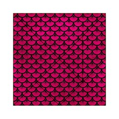Scales3 Black Marble & Pink Leather Acrylic Tangram Puzzle (6  X 6 )