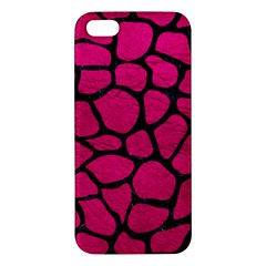 Skin1 Black Marble & Pink Leather (r) Apple Iphone 5 Premium Hardshell Case
