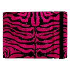 Skin2 Black Marble & Pink Leather Samsung Galaxy Tab Pro 12 2  Flip Case