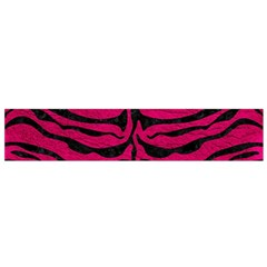 Skin2 Black Marble & Pink Leather Flano Scarf (small)