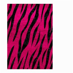 Skin3 Black Marble & Pink Leather Small Garden Flag (two Sides)