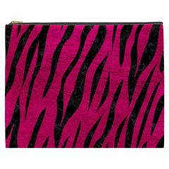 Skin3 Black Marble & Pink Leather Cosmetic Bag (xxxl)